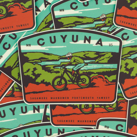 Cuyuna Mountain Bike Sticker - Humble Apparel Co