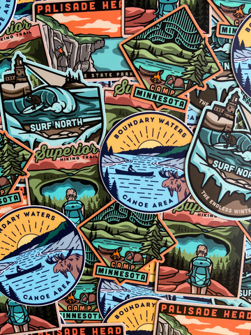 Minnesota North Shore Sticker Pack, Stickers - Humble Apparel Co