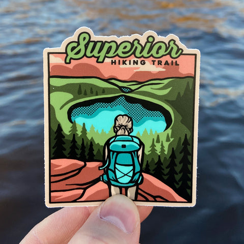 Superior Hiking Trail - Bean and Bear Lakes Sticker, Stickers - Humble Apparel Co