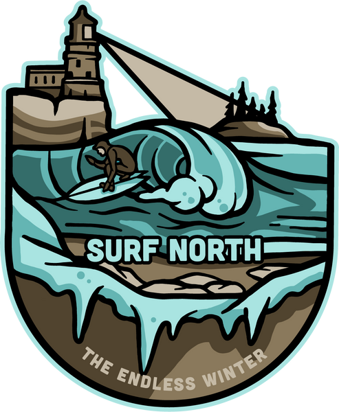 Surf North Sticker - Humble Apparel Co