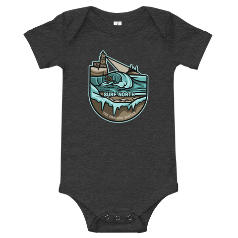 Surf North - Baby One Piece Tee, Shirts - Humble Apparel Co