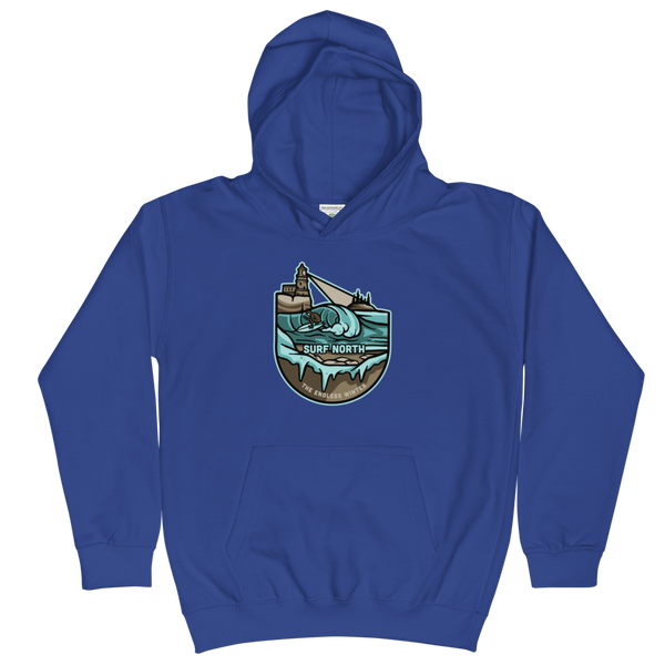 Surf North - Hoodie (Kids), Sweatshirt - Humble Apparel Co