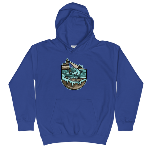 Surf North - Hoodie (Kids) - Humble Apparel Co