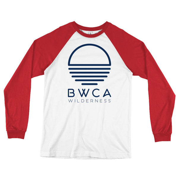 BWCA Sunset Wilderness Long Sleeve Baseball T-Shirt, Shirts - Humble Apparel Co