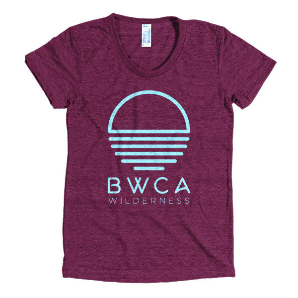 BWCA Sunset Wilderness Women's T-Shirt - Cranberry - Humble Apparel Co