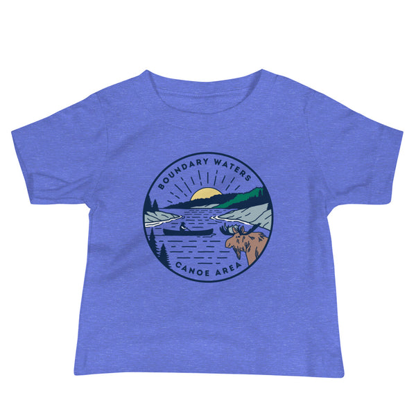 Boundary Waters - Basswood Lake Baby Short Sleeve T-Shirt, Shirts - Humble Apparel Co