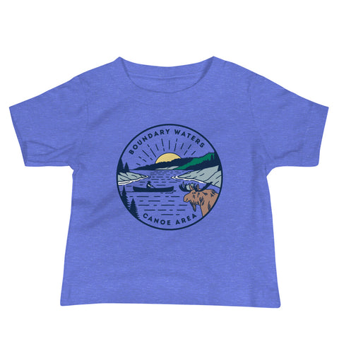 Boundary Waters - Basswood Lake Baby Short Sleeve T-Shirt - Humble Apparel Co