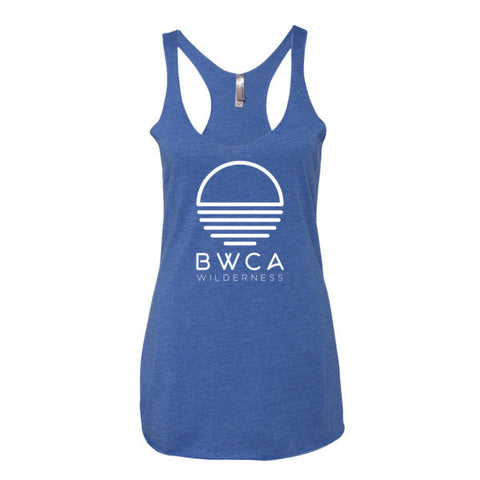 BWCA Sunset Wilderness Women's tank top - Vintage Royal, Shirts - Humble Apparel Co