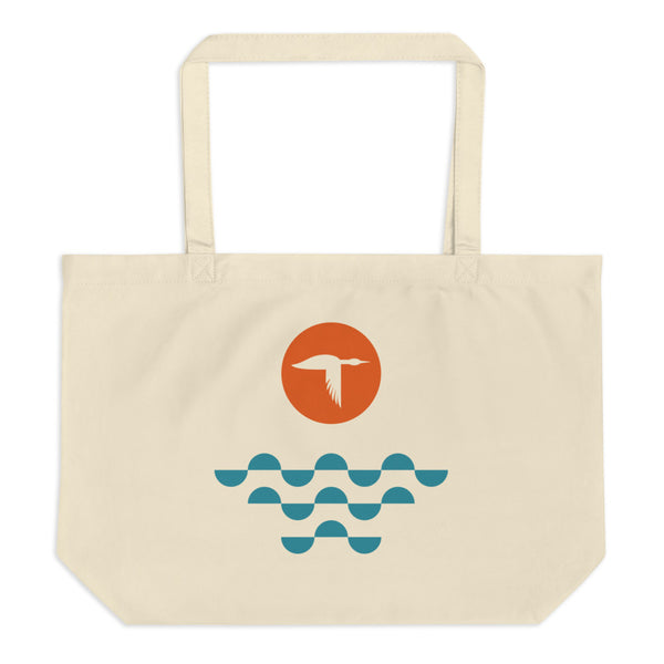 Loon Sunset Tote Bag
