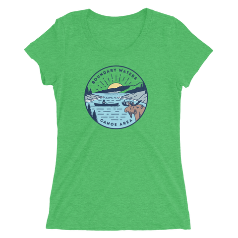 Boundary Waters - Bass Lake Women's T-Shirt, Shirts - Humble Apparel Co