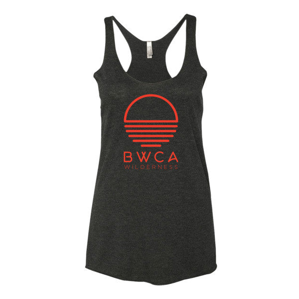 BWCA Sunset Wilderness Women's tank top - Vintage Black - Humble Apparel Co