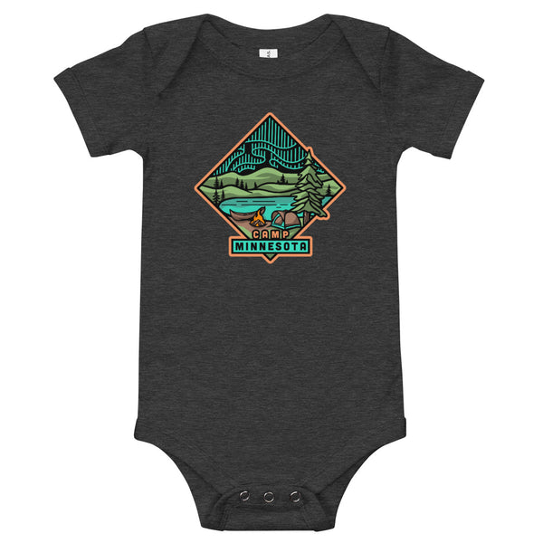Camp Minnesota - Baby One Piece Tee, Shirts - Humble Apparel Co