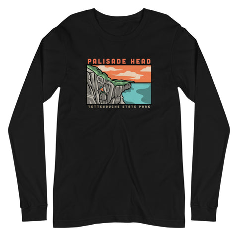 Palisade Head Climbing - Superior Crack Long Sleeve Tee, Shirts - Humble Apparel Co