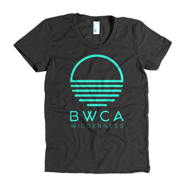 BWCA Sunset Wilderness Women's T-Shirt - Malibu Green, Shirts - Humble Apparel Co