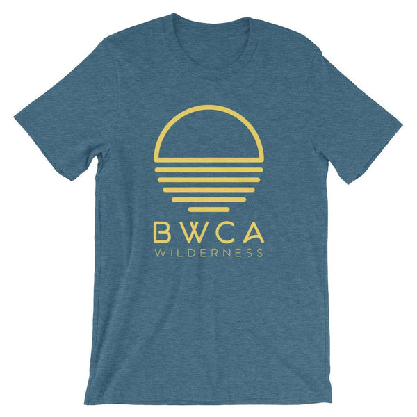BWCA Sunset Wilderness T-Shirt - Heather Deep Teal - Humble Apparel Co