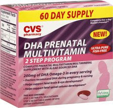 CVS DHA Prenatal Multivitamin 2 Step Program Tablets - 60 day
