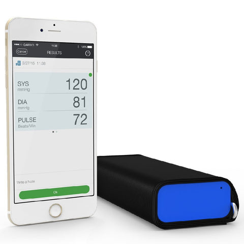 QardioArm Wireless Blood Pressure Monitor (Apple iOS and Android) Electric Blue