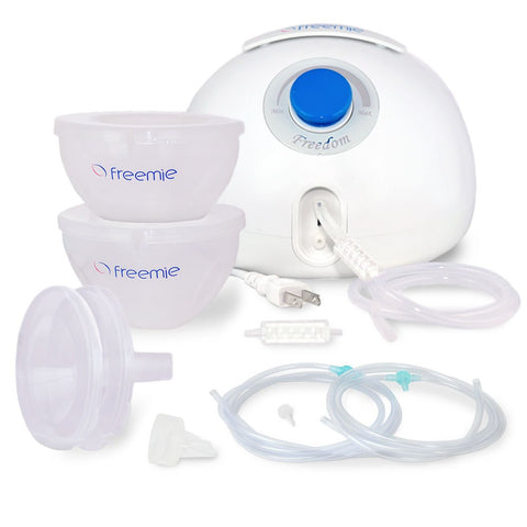 Freemie Freedom Double Electric Hands Free and Concealable Breast Pump White