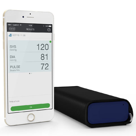 QardioArm Wireless Blood Pressure Monitor (Apple iOS and Android) Midnight Blue