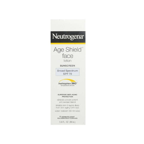 Neutrogena Age Shield Face Lotion Sunscreen Broad Spectrum SPF 70 - 3 Oz