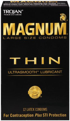 Trojan Magnum Thin 12ct 12 Pack