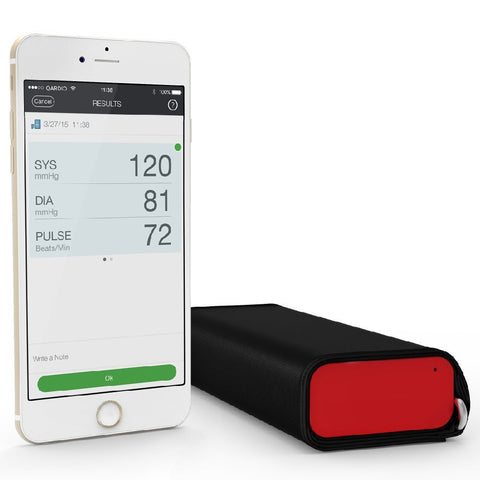 QardioArm Wireless Blood Pressure Monitor (Apple iOS and Android) Lightning Red Lighting Red