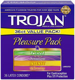 Trojan Condom Pleasure Pack Lubricated 36 Count