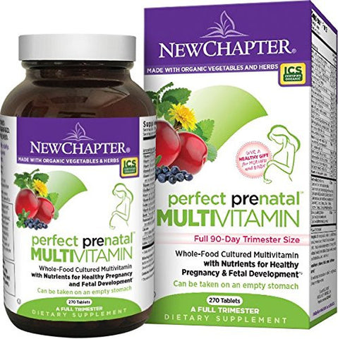 New Chapter Perfect Prenatal Vitamins Fermented with Probiotics - 270 count