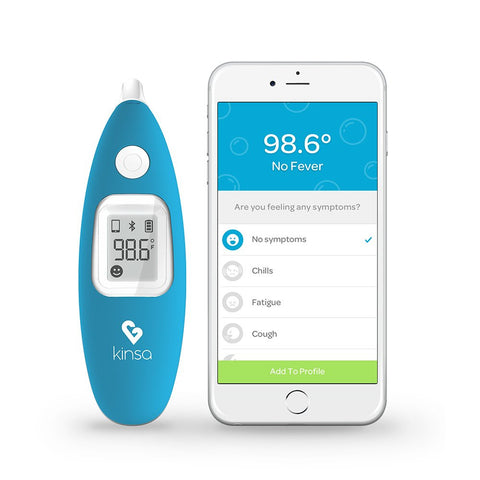 Kinsa Digital Smart Ear Thermometer for Baby Kid and Adult Kinsa Blue