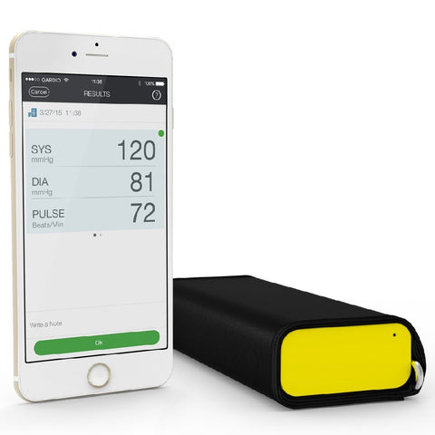 QardioArm Wireless Blood Pressure Monitor (Apple iOS and Android) Racing Yellow