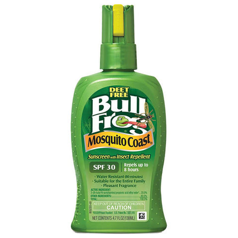 Bull Frog Sunblock with Insect Repellent Mosquito Coast SPF 30 4.7 Fluid Ounces 4.7 Oz