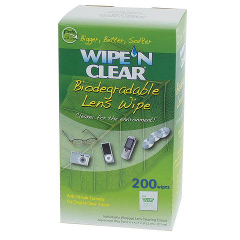 200 Flents Wipe N Clear Lens Cleaning Cloths 200 Wipes