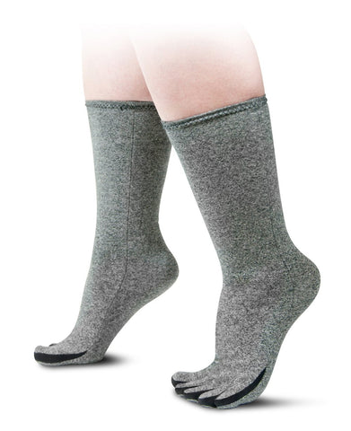 IMAK Compression Arthritis Socks for Circulation and Travel Medium Grey Medium Men's 7 1/2 - 9 1/2 Women's 8 1/2 - 11 1/2