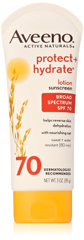 Aveeno Sunscreen Protect Plus Hydrate Lotion SPF 70 3 Ounce 3 oz