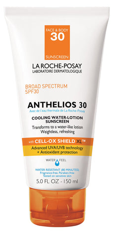 La Roche-Posay Anthelios 30 Cooling Water-Lotion Sunscreen for Face and Body Water Resistant with SPF 30 5 Fl. Oz.