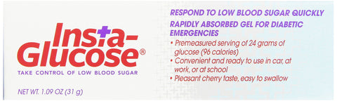 Insta-Glucose Liquid Diet Supplement 1.09 Ounce (Pack of 12)