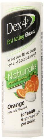 Dex4 Glucose Tablets Natural Orange 10 Count(Pack of 6) 60 Count