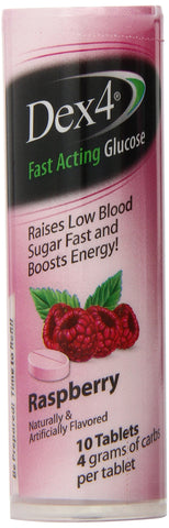 Dex4 Glucose Tablet Raspberry 10 Count (Pack of 6) 60 Count