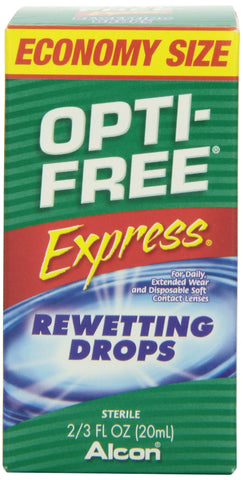 Opti-Free Express Rewetting Drops 2/3 fl Ounce Bottle Pack of 1