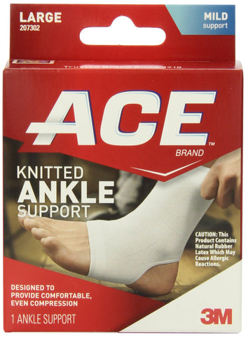 ACE Knitted Ankle Support Large 1 Count