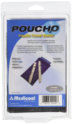 Medicool Poucho Pen 2 Count Blue Double Pen Pouch