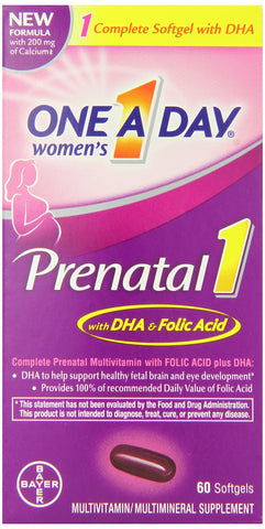 One A Day Women's Prenatal One Pill 60 Count