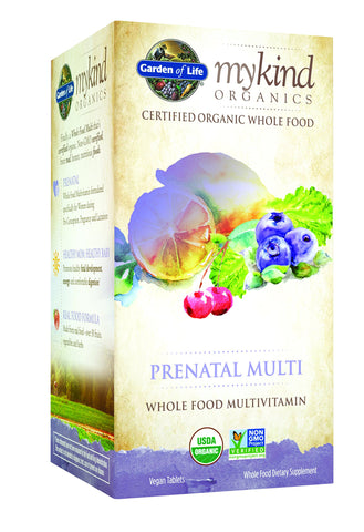 Garden of Life Organic Prenatal Multivitamin Supplement - mykind Whole Food Prenatal Vitamin Vegan 90 Tablets 90 Count
