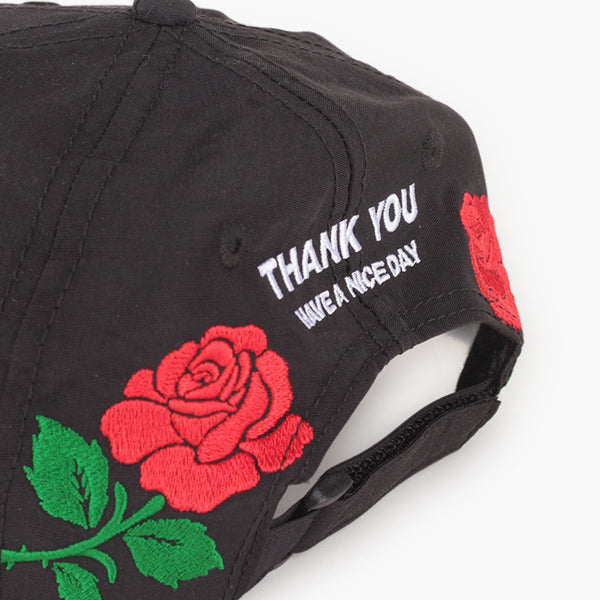 Clothing One Size Chinatown Market Thank You Rose Hat CTMF18-TYRH-Black-One Size Chinatown Market