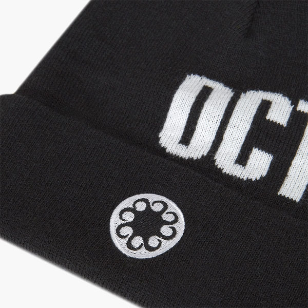 Accessories One Size Iuter Logo Fold Beanie CRVROBNP06-Black-One Size Iuter