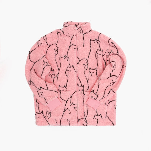 Clothing Lazy Oaf Cat Got Your Toungue Zip Lazy Oaf