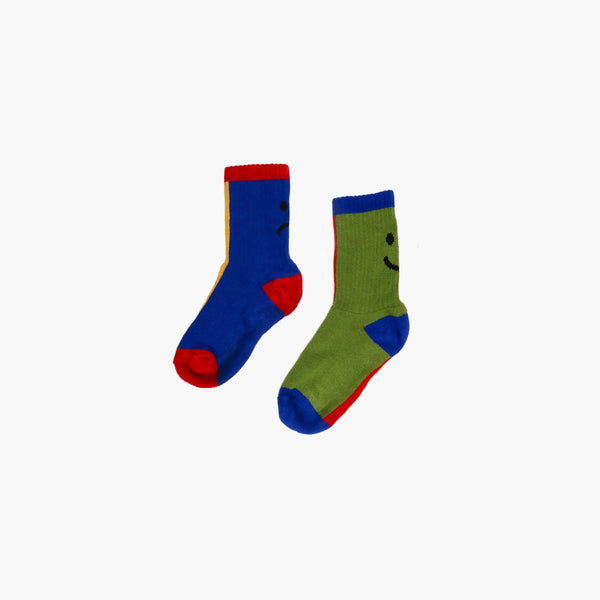 Accessories One Size Lazy Oaf Crayon Happy Sad Sock 44420MA000003-Multi-One Size Lazy Oaf
