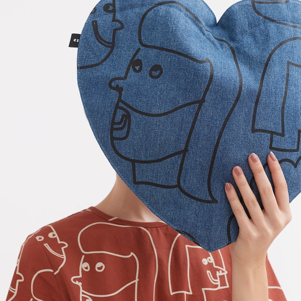 Accessories One Size Lazy Oaf Face It Heart Bag 44420WA000014-Blue-One Size Lazy Oaf