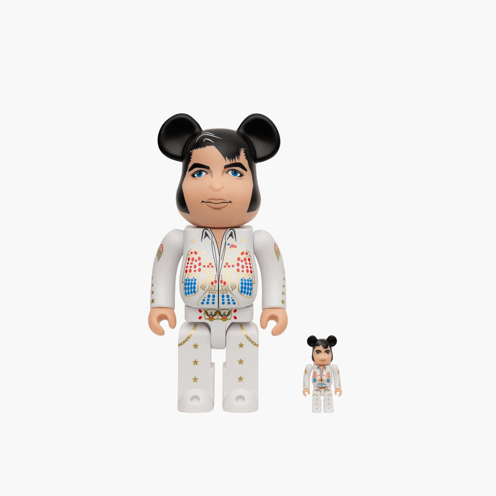 Accessories White / One Size Medicom Toy Bearbrick Elvis Presley 100% + 400% 14ELVIS-White-One Size Medicom Toy