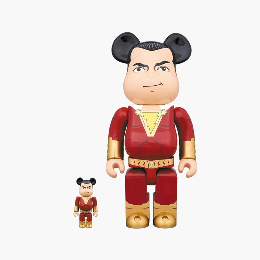 Accessories One Size Medicom Toy Bearbrick Shazam 100% + 400% 14SHAZAM-Multi-One Size Medicom Toy
